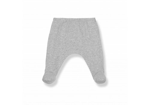 1 + More in the Family LUA leggings w/feet grey melange