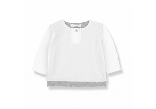 1 + More in the Family ANTON long sleeve t-shirt white