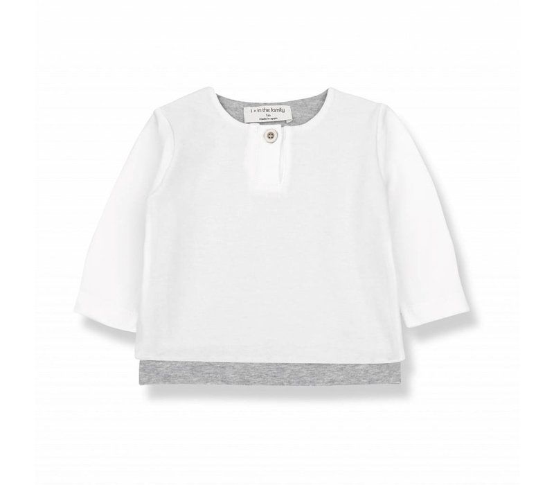 ANTON long sleeve t-shirt white