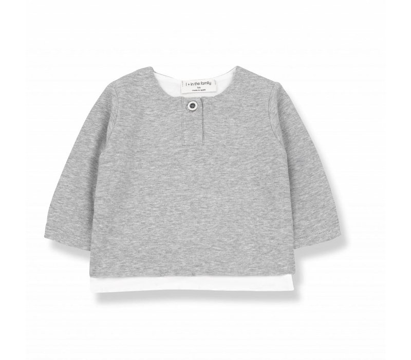 ANTON long sleeve t-shirt grey melange