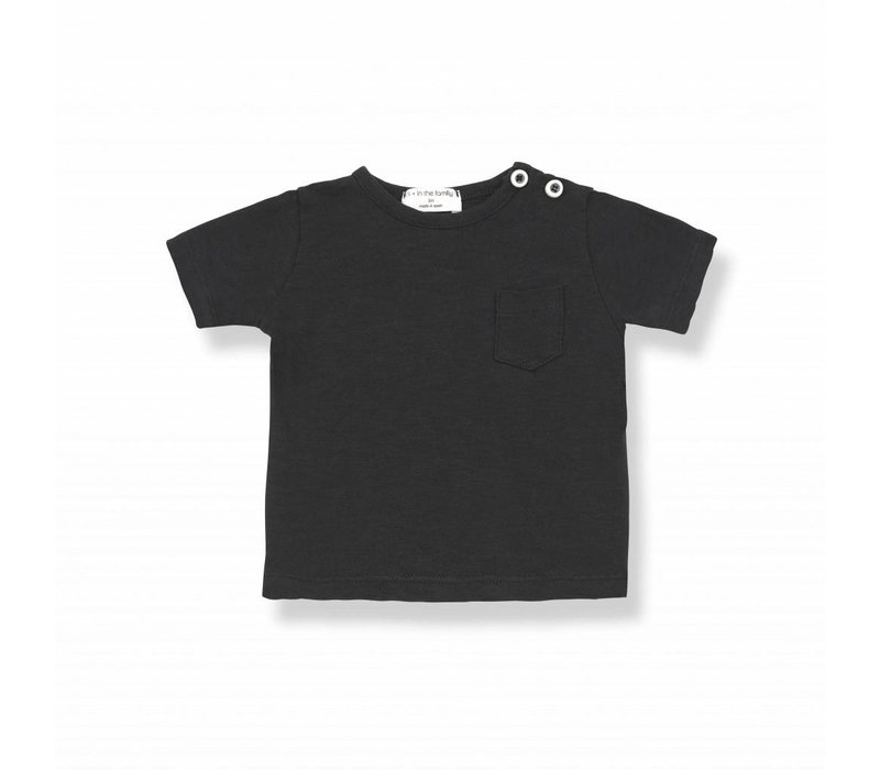 DOMENICO s.sleeve t-shirt black