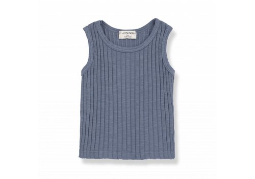 1 + More in the Family LEA tank top indigo