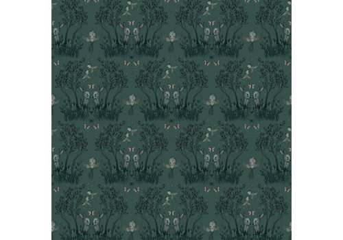 Jimmy Cricket Wallpaper Mighetto Garden Pine Green