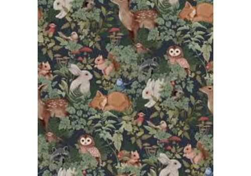 Jimmy Cricket Wallpaper Woodlands Charcoal
