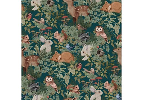 Jimmy Cricket Wallpaper Woodlands Teal