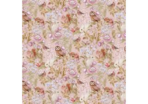 Jimmy Cricket Wallpaper Woodlands Blush