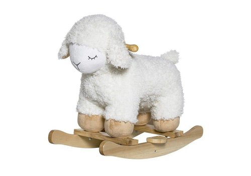 Bloomingville Rocking Toy Sheep, White, Polyester