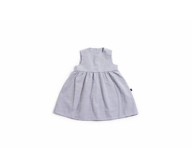 Black Stripe Twirl Dress