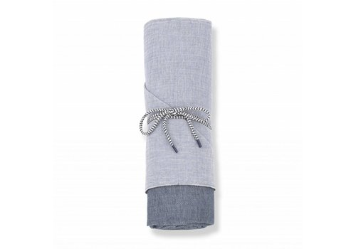 1 + More in the Family VIOLETTE blanket blue