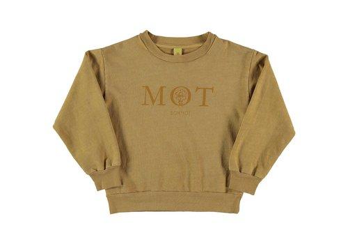 Bonmot organic SWEATSHIRT MOT // MUSTARD