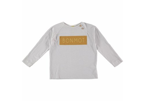 Bonmot organic LONG SLEEVE TEE ALL OVER PRINT // GREY ROCK