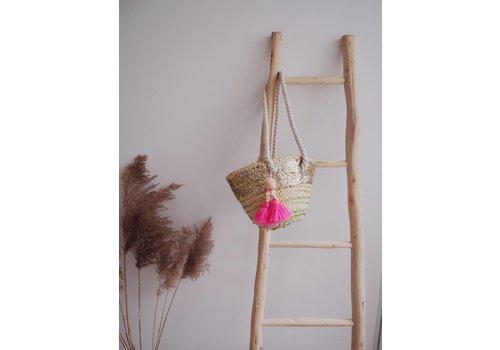 Louise Misha Basket Anitea Fluo Pink