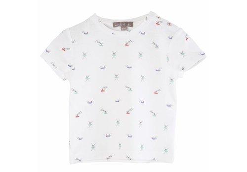 Emile et Ida Tee Shirt Ecru Plouf