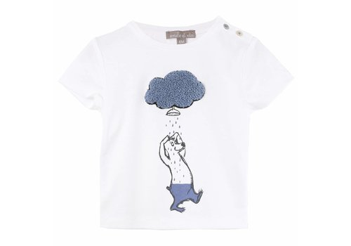 Emile et Ida Tee Shirt Ecru Nuage