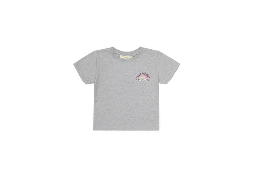 Soft Gallery Dominique T-shirt Light Grey Melange, Rainbow Mini Emb.