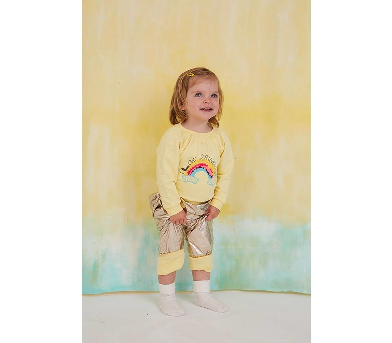 Annabel Sweatshirt French Vanilla, Rainbow Emb.