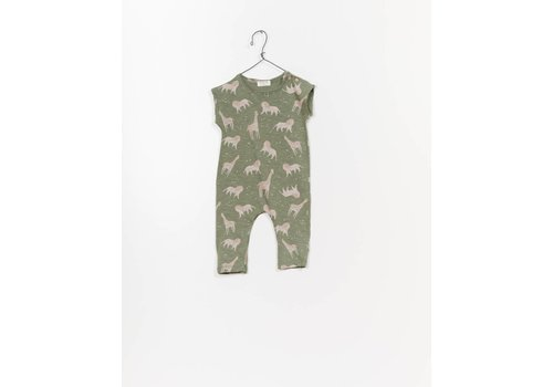 Play up Printed Flamé Jersey Jumpsuit E251G