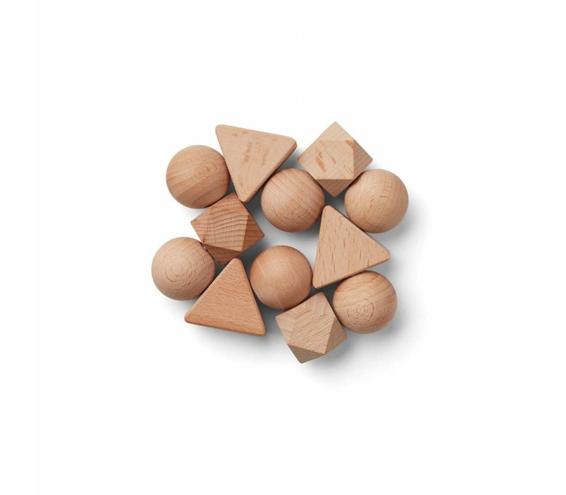 Anna rattle - Liewood  This wooden rattle is soft and fun to play around with. It's the perfect distraction on the go. Anna rattle is a beautiful addition to the collection of toys.  Color: Natural Quality: Beech wood Dimensions: D 8 Washing instructions