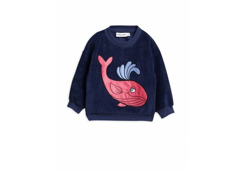 Mini Rodini Whale Sp Terry Sweatshirt Navy