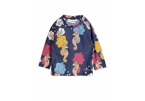 Mini Rodini Seahorse Uv Top Navy