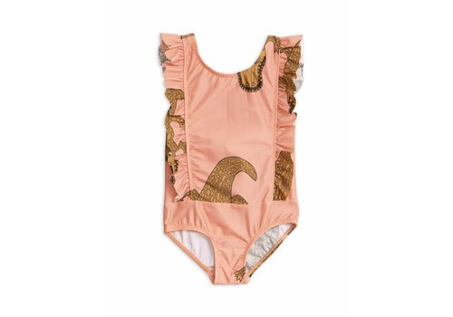 Mini Rodini Crocco Ruffled Swimsuit Pink