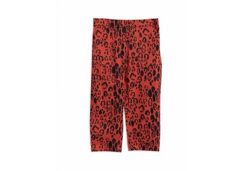 Mini Rodini Leopard Woven Trousers Red