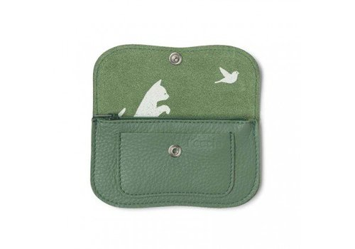 Keecie WALLET, CAT CHASE SMALL // Forest