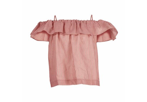 Designers Remix Girls LR Kikka Top, Lipstick Red