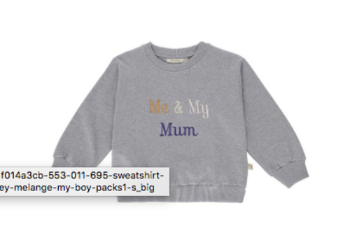 Soft Gallery Drew Sweatshirt Grey Melange, My Mum