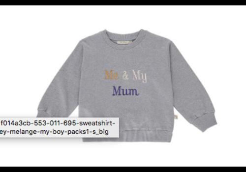Soft Gallery Drew Sweatshirt Grey Melange, My Mum
