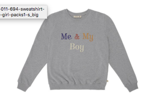Soft Gallery Drew Sweatshirt Grey Melange, My Boy