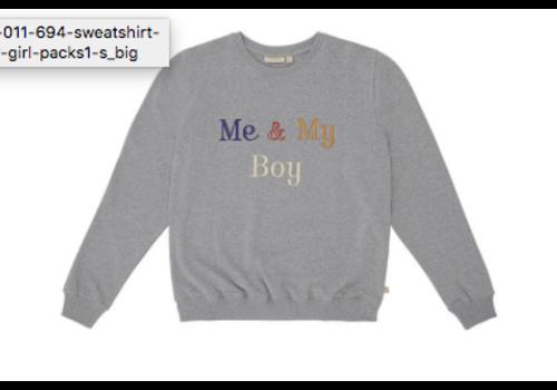Soft Gallery Drew Sweatshirt Grey Melange, My Boy