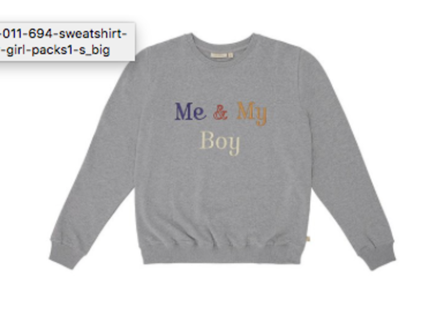 Drew Sweatshirt Grey Melange, My Boy