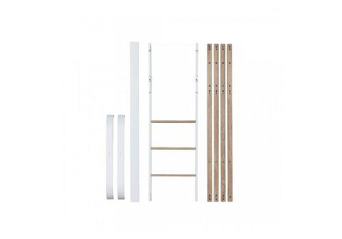 Oliver Furniture CONVERSION MINI + TO MINI + LOW LOFT BED, WHITE/OAK