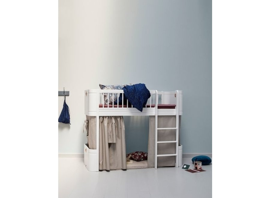 CONVERSION MINI + TO MINI + LOW LOFT BED, WHITE