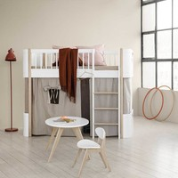 CURTAIN FOR WOOD MINI+ LOW LOFT BED (INCL. MOUNTING // Available in 3 colors