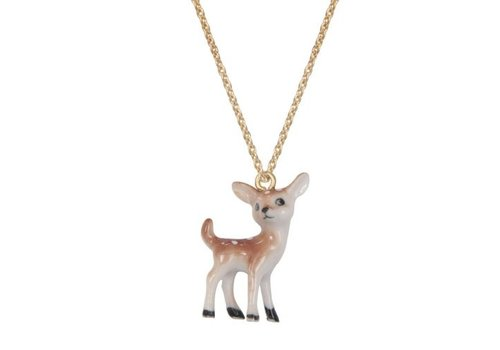 A Weathered Penny Miniature Deer - Chain