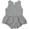 Beans Barcelona CAGLIARI- Striped dress-body // WHITE