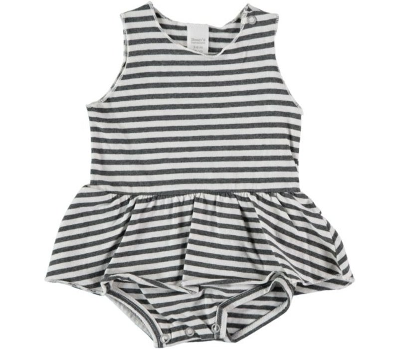 CAGLIARI- Striped dress-body // WHITE