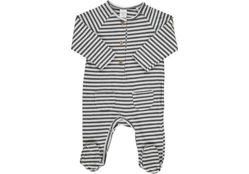 Beans Barcelona LIVORNO-Striped playsuit // WHITE