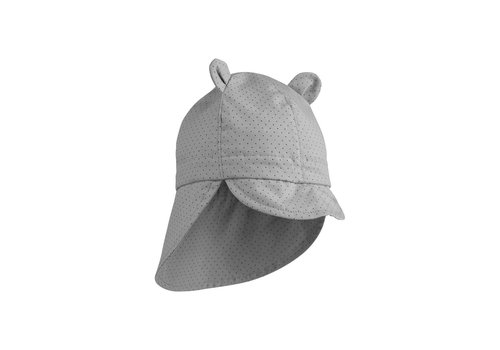 Liewood Gorm sun hat Little dot dumbo grey
