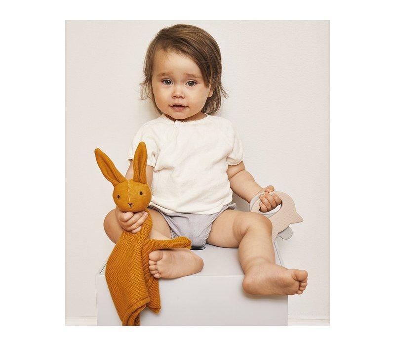 Milo knit cuddle cloth Rabbit mustard