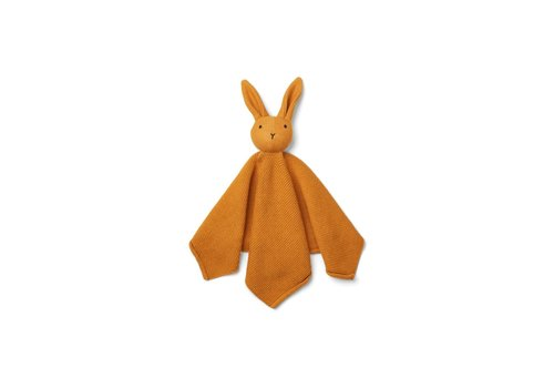 Liewood Milo knit cuddle cloth Rabbit mustard