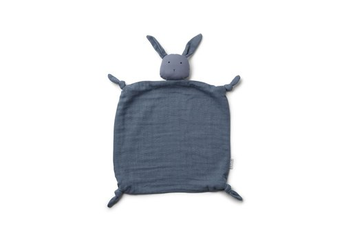 Liewood Agnete cuddle cloth Rabbit blue wave