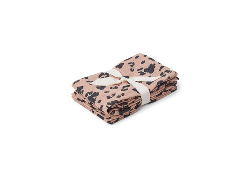 Liewood Hannah muslin cloth print 2 pack -  Leo rose