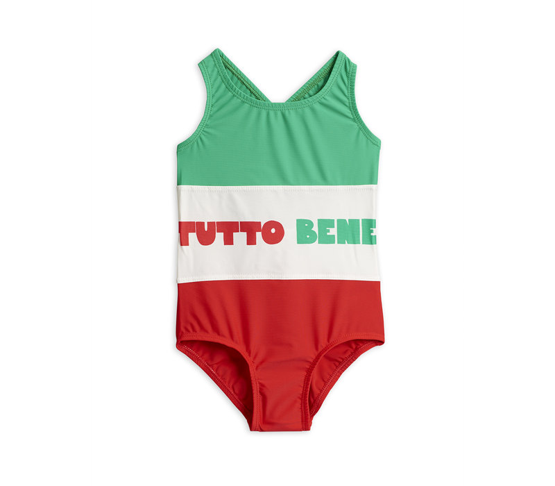 Tutto Bene sporty swimsuit Red