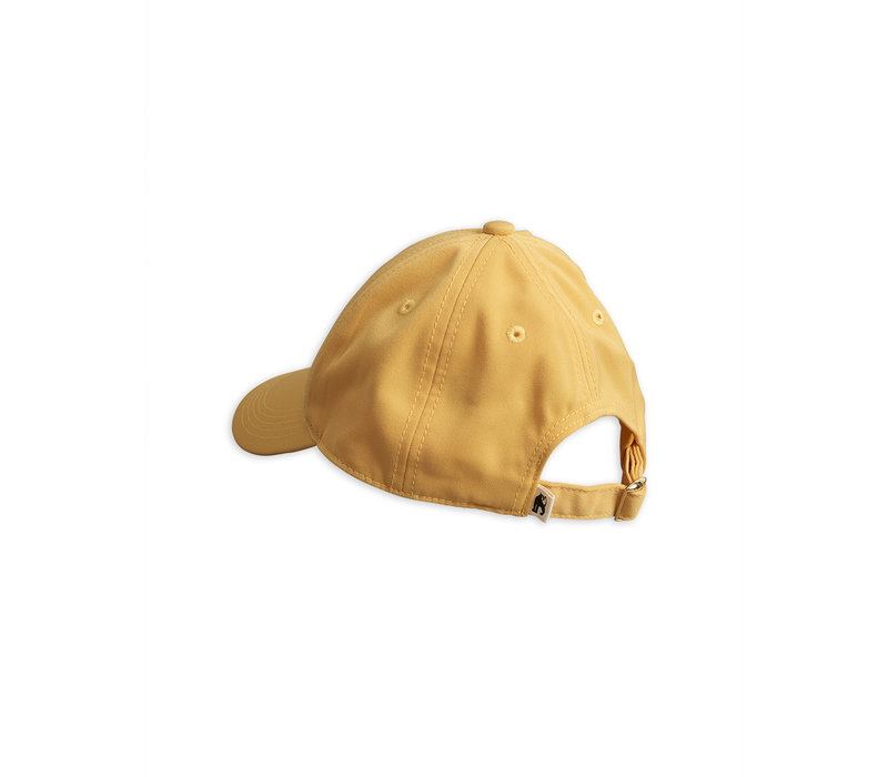 Pop corn embroidery cap Yellow