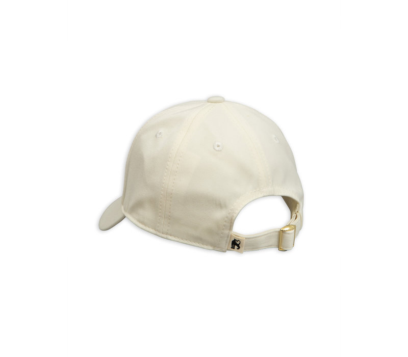 Parrot embroidery Cap Offwhite