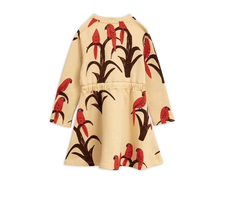 Parrot aop dress Red