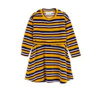 Velour stripe dress Yellow